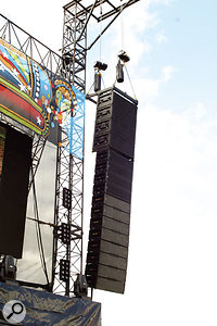 A flying line array in action.