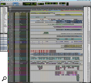 The Pro Tools session for 'Death Breast', with its jumble of tracks, reflects Justin Vernon's instinctive approach to recording.