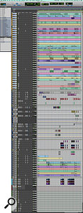 This composite screenshot shows the full Pro Tools Edit window for DJ Swivel's mix of 'Closer'.