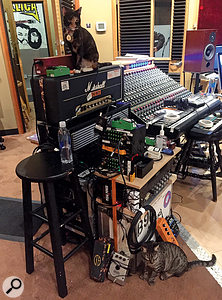 The 24-channel Neve sidecar at Metallica HQ was used extensively during recording.