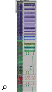 This composite screen capture shows the Edit window for the Pro Tools session of 'Moth To Flame'.