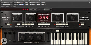 A vocal widening effect was created using Eventide's H910 Harmonizer emulation, overdriven by the Brainworx bx_saturator plug-in.