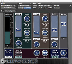 Powerful but challenging: Frank Wolf's mix made use of a  beta version of a  new compressor plug-in from George Massenburg.