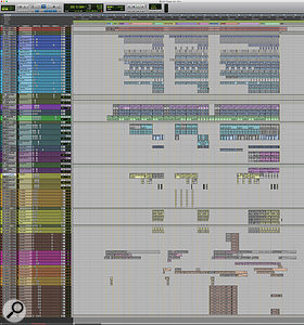 This composite screenshot shows the entire Pro Tools Edit window for 'Charger'.