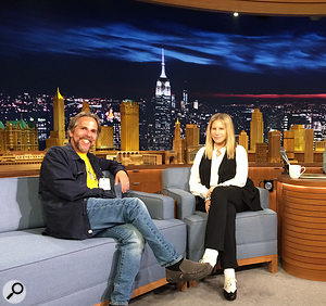 David Reitzas and Barbra Streisand share the Tonight show couch.