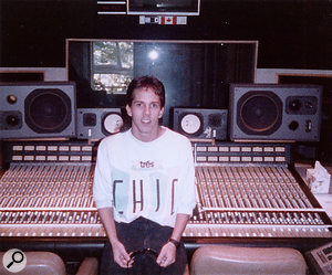 A young David Reitzas at Chartmaker Studios, 1987.