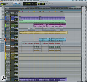 This composite screen capture shows the minimalist Pro Tools session for 'Slow'.