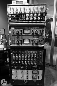Much of George Seara's mixing work on 'Treat You Better' was carried out using outboard, including (from top): Lynx Hilo, Avalon AD2055 EQ, Empirical Labs Distressor and Retro 176 compressors (x2 each), Neve channel strips and UA 1176 compressors (x3).