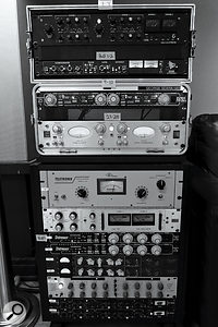 More of the outboard used by George Seara in his mixes for Shawn Mendes (from top): ADR F760-RS stereo 'Compex' and API 2500 compressors, Empirical Labs Fatso Jr tape emulator, Avalon AD2044, Teletronix LA-2A, UA 1176 and Empirical Labs Distressor (x2) compressors, Chandler Germanium Compressor (x2), Crane Song STC8 compressor/limiter and ADR F760X compressor (x2).