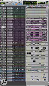 This composite screen capture shows the entire Pro Tools session for 'Treat You Better'.