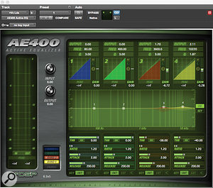 McDSP's AE400 'active equaliser' was used to add presence and control harshness in the vocal.