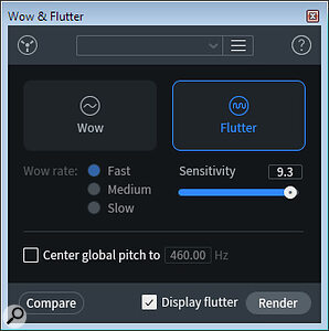 The Wow & Flutter control window.