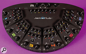 The JamHub GreenRoom, whose spec is largely the same as that of the TourBus, but without the screen, USB connectivity or direct to SD-card recording.
