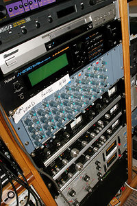 Most of the original effects were recreated using plug-ins, but hardware Amek equalisers and Dbx compressors also played a role.