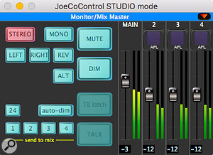 The Studio Mode provides useful monitoring facilities.