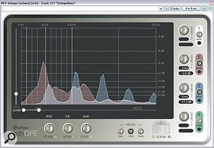 These two screens show how you can use EQ to make the kick and bass parts complement each other and the track. In both cases, you can see that the two instruments have slightly different dominant frequencies, so that they don't mask each other. In the second screen, you can see that EQ has been used to change which instrument sits beneath the other.