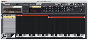 Kore's Mapping functions allow you to split and layer multiple sounds for simultaneous control from one controller.