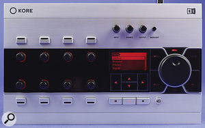 The Kore controller's rotary knobs are infinite encoders, which always reflect the position of the assigned parameter.