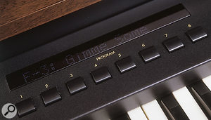 It might look rather like a vintage Hammond in many ways, but that's a throroughly modern LCD...