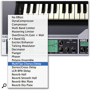 Selecting insert effects.