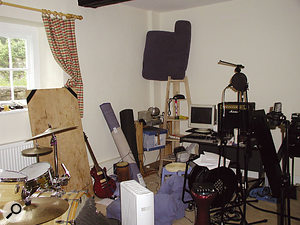 Another room in the farmhouse was set up as a live room for recording drums, strings and other acoustic instruments.
