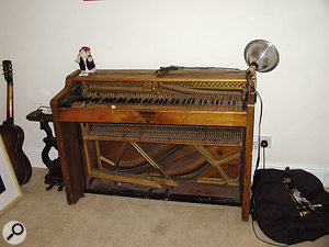 One of the more unusual vintage keyboards used on the album was this ship's piano.