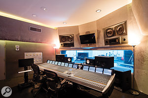 The Studio 5 control room hosts a 72-channel SSL Duality desk.