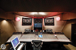 Studio 3 hosts an enormous SSL 9080 XL K-series desk.
