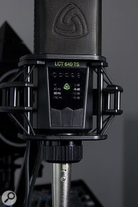 The mic's polar-pattern, pad and high-pass filter options are set via a front-panel menu system.