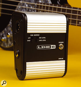 The included power supply/DI box 'phantom' powers the bass via a TRS jack lead.