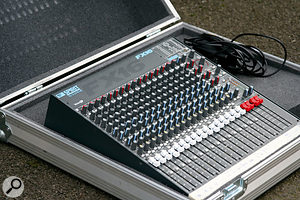 This second-hand case was 're-foamed' to fit a Spirit FX16 mixer, and there's plenty of room for the power supply too.