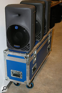 This trunk holds 15 mic stands and also makes a useful trolley.