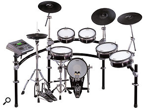 Fast forward to 2004 and Roland's V-Drum systems are at the cutting edge of electronic percussion, using real mesh drum heads for a comfortable playing feel.