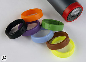Eight coloured rings are supplied with the handheld mic, to help with identification on stage.