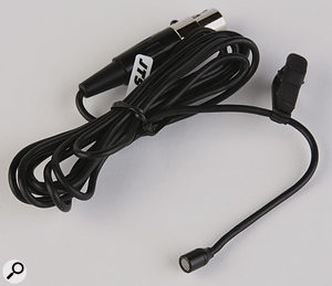 At only around 5mm in length, the CM201 lapel mic is very unobtrusive in use.