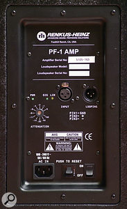 The PF1 amp pack fitted in the CFX151 speaker. An amp pack can be retro-fitted to the passive CF speaker models at any time, to make them active.