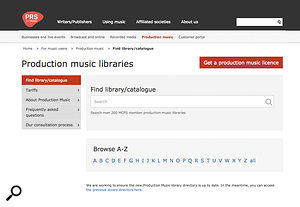 The PRS web site is a great starting point for researching library music publishers.