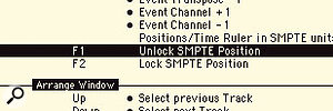 If you wish to quickly reposition the flag position, then you can use the Unlock and Lock SMPTE Position Key Commands.