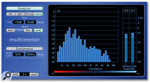 Waveburner provides a range of good metering options for accurate mastering.