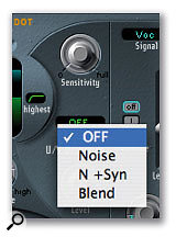 EVOC20's U/V detector section can be set to a variety of modes that will react differently to voiced (vowel) and unvoiced (consonant) sounds. Voiced sounds tend to be tonal and melodic, whereas unvoiced sounds have a much higher amount of noise, and setting the U/V Detection level to 'full' when in Noise mode can create some very interesting results.