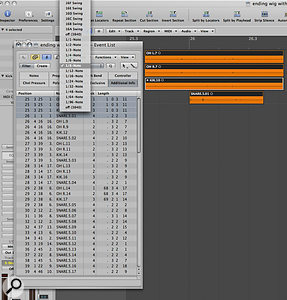 The Event List enables you to 'quantise' your audio regions, just as you can with MIDI. Providing you have cut your drum tracks so that there is no dead space before the first transient, this should lock your edited drums to the project's tempo.