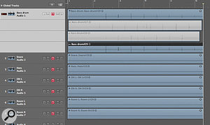 When the 'Replace' recording mode is off, successive recording  passes on the same track don't overwrite each other but are automatically packed into their own Takes folder.