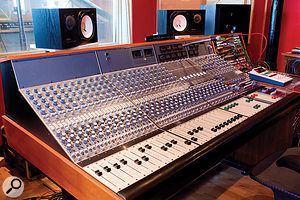 The control room is centred around a rare discrete Neve 5316 console with 33114 input modules.
