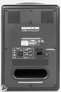 The Mackie MRs are rear-ported monitors and the design helps to keep port noise to a minimum.