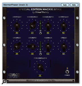 The Spike bundle includes two useful plug-ins: Mackie's own Final Mix and Nomad Factory's Warmer Phaser.
