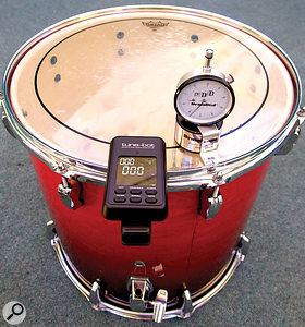 While it's perfectly possible to tune drums by ear, the Tune-Bot was useful for ensuring consistent intervals between the tom-toms.