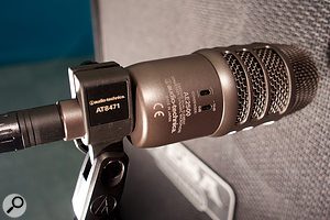 9. The Audio Technica AE2500 is a dual-diaphragm mic that consists of phase-aligned dynamic and condenser capsules within the same housing.