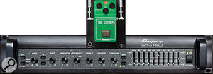 UA's Ampeg SVT-3 Pro plug-in was employed on the bass DI.