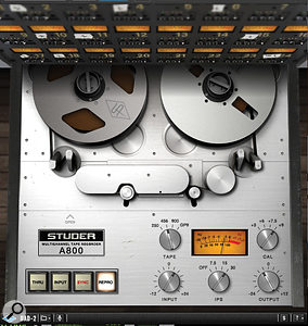 The UAD Studer A800 tape plug-in was my primary mix tool for enhancing body, warmth and presence on several sources.