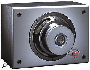 The CR481 subwoofer has an inverted driver, which allows you to use it with the CR480 as a push-pull pair, especially where space is limited.
